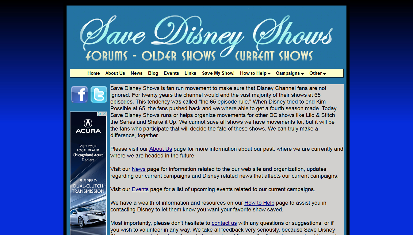 Save Disney Shows